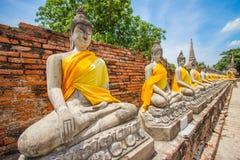 Buddistisk tempel - bhudabild Thailand Arkivbild
