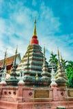 Buddistisk tempel Chiang Mai, Thailand Arkivbilder