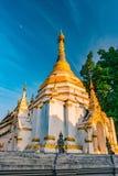 Buddistisk tempel Chiang Mai, Thailand Arkivbild