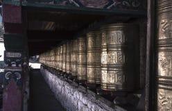 Buddistisk tempel för forntida traditionell tibetan stil fotografering för bildbyråer