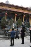 Buddistisk tempel - Hanoi - Vietnam Arkivfoto