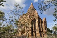 Buddistisk tempel i Bagan, Myanmar, Burma Royaltyfri Fotografi