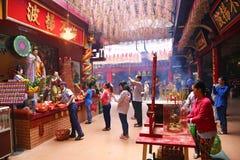Buddistisk tempel i Ho Chi Minh City, Vietnam Royaltyfria Foton