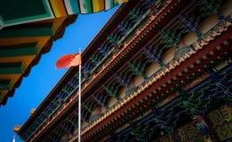 Buddistisk tempel i Hong Kong, Kina Arkivfoto