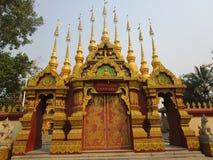 Buddistisk tempel i Jinghong, Xishuangbanna Royaltyfria Bilder