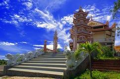 Buddistisk tempel i Phan Thiet. Arkivfoto