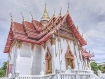 Buddistisk tempel i Samutprakarn Thailand Arkivbild