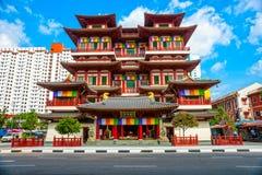 Buddistisk tempel i Singapore Royaltyfria Bilder