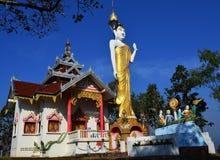 Buddistisk tempel i Thailand Arkivfoto