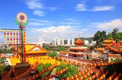 Buddistisk tempel Kek Lok Si, Georgetown, Penang ö, Malaysia royaltyfria bilder