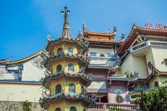 Buddistisk tempel Kek Lok Si i Penang, Malaysia, Georgetown arkivbilder