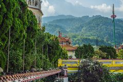 Buddistisk tempel Kek Lok Si i Penang, Malaysia, Georgetown royaltyfri foto