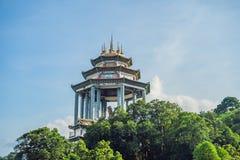 Buddistisk tempel Kek Lok Si i Penang, Malaysia, Georgetown royaltyfria foton