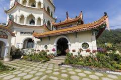 Buddistisk tempel Kek Lok Si med pagoden i Penang, Malaysia fotografering för bildbyråer