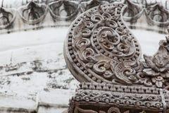 Buddistisk tempel på Chiangmai Thailand Arkivfoto