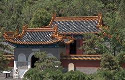 Buddistisk tempel på den stora väggen, Juyongguan, Kina Arkivfoto