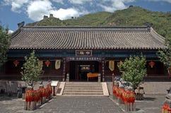 Buddistisk tempel på den stora väggen, Juyongguan, Kina Royaltyfri Foto