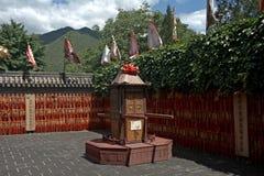 Buddistisk tempel på den stora väggen, Juyongguan, Kina Royaltyfria Foton