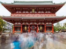 Buddistisk tempel - Senso-ji, Asakusa, Tokyo, Japan Arkivfoton