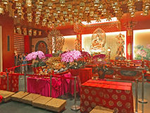 Buddistisk tempel, Singapore Arkivbilder