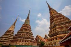 Buddistisk tempel, Wat Pho i Bangkok Arkivfoto