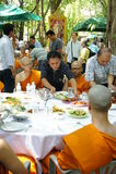 buddistisk thai ceremoniprästvigning Arkivfoton
