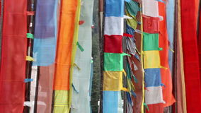 Buddistiska bönflaggor arkivfilmer
