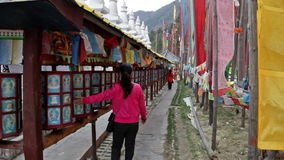 Buddistiska bönhjul arkivfilmer