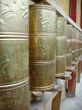 buddistiska bönhjul Arkivfoto