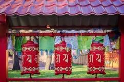 buddistiska bönhjul Fotografering för Bildbyråer
