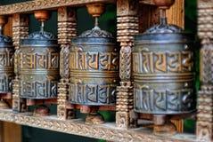 buddistiska bönrullar Arkivfoto
