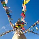 Buddistiska Boudhanath Stupa. Nepal Kathmandu Royaltyfri Bild