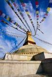 Buddistiska Boudhanath Stupa. Nepal Kathmandu Royaltyfria Bilder
