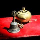 buddistiska ceremoniämnen Arkivfoto