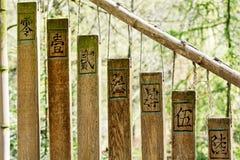 Buddistiska chimes i den östliga trädgården royaltyfria foton