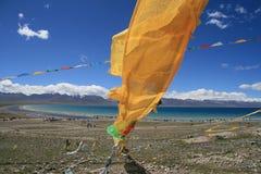 buddistiska flaggor Arkivbild
