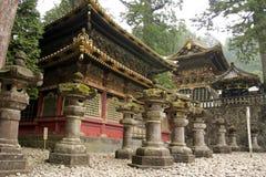 buddistiska japanska nikko shintotempel Arkivfoto