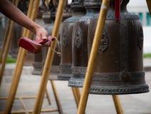 buddistiska klockor Arkivbild