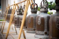 buddistiska klockor Arkivfoto