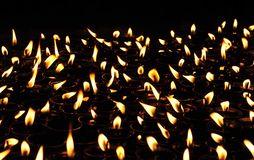 buddistiska lampor Arkivbild