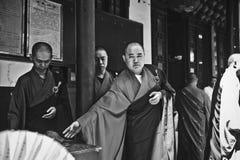 Buddistiska munkar, Kina Royaltyfria Bilder