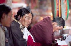 Buddistiska munkar, Tibet, Kina Royaltyfria Bilder