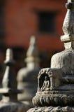 buddistiska skulpturer Fotografering för Bildbyråer
