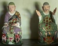 Buddistiska statyer i den Pohyon templet Nordkorea Royaltyfri Bild