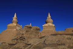 buddistiska stupas Arkivbilder