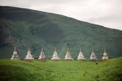 Buddistiska stupas Royaltyfri Fotografi