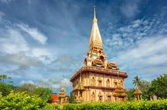 Buddistiska tempel av Phuket Fotografering för Bildbyråer