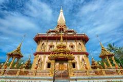 Buddistiska tempel av Phuket Royaltyfria Bilder