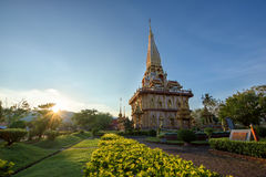 Buddistiska tempel av Phuket Arkivfoton