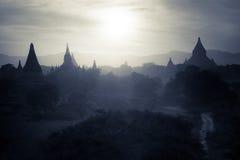Buddistiska tempel på Bagan Kingdom, Myanmar (Burman) Royaltyfri Fotografi